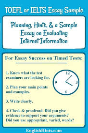 A Toefl Or Ielts Essay Example And Planning Tips