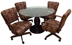 dining room set with caster chairs. $1,469.00, roundglasstablemushroom base_classiccasterchairs.jpg · glass mushroom base with classic caster chairs dining room set