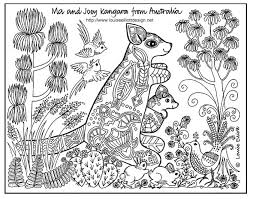 Small Picture Free Coloring Pages Animals of the World Kangaroos Animal and