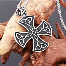 fashion jewelry mens necklace stainless steel vintage maltese iron cross pendant necklace knights templar cross fashion