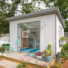 style your she shed as an art studio