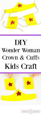 make your own diy wonder woman crown and cuffs using this