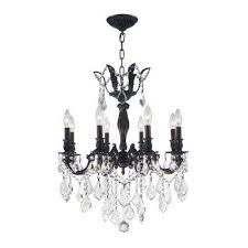 versailles 8 light flemish brass chandelier with clear crystal