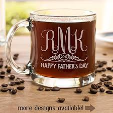 fathers day personalized glass coffee mug novelty clear glass tea cup 13 oz gift for dad