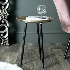 round silver side table coffee