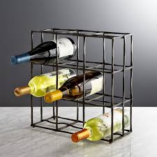 wine rack. Crest 9-Bottle Wine Rack In Accessories + Reviews | Crate And Barrel