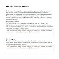 Free Executive Summary Template Example Project