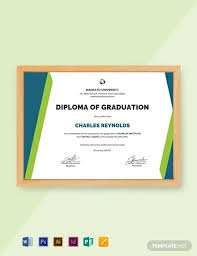 Free Sample Diploma Certificate Template Word Psd