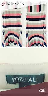 Roz Ali Striped Dress Sz 16 Excellent Condition Poly