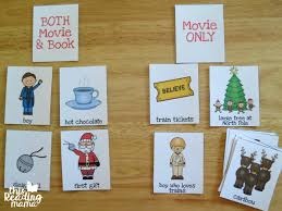 Book Vs Movie Venn Diagram Polar Express Comprehension Sort Book Vs Movie