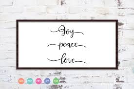 If you'd like to download the free file, click the link below. Peace Joy Love Svg Cut File 404912 Cut Files Design Bundles