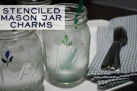 Decorating Mason Jars For Drinking How To Make Mason Jar Charms With Martha Stewart Glass Craft Paint 74