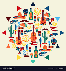 Mexican Style Graphic Design Mexican Background Style