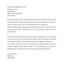 Sample Of A Character Letter Sample Character Reference Letter For Court Child Custody