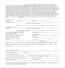 Scholarship Aplication Form 13 Scholarship Application Templates Pdf Doc Free