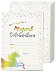 celebration invite details about 24 pack magical celebration unicorn rsvp invite cards includes envelopes b1