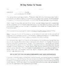 30 day notice to landlord form sample notice of intent to vacate 30 day letter from landlord