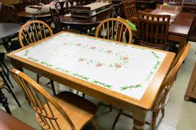tile top dining table. Tile Top Dining Table Set With Painted Style Apple Design Motif Farmhouse Country A