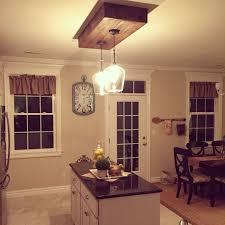 Box Fluorescent Light Replaced The Fluorescent Lighting Kitchen Island Lighting