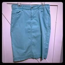 Skirts Jade Mackenzie Royal Blue Denim Pencil Skirt Poshmark