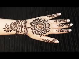 Henna Pattern Magnificent Floral Henna Pattern Spring Mehendi Design Pretty Flowers Mehndi