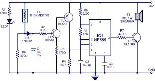 fire alarm circuit using ic 555 and thermistor fire alarm control panel training at Circuit Diagram For Fire Alarm Control Panel