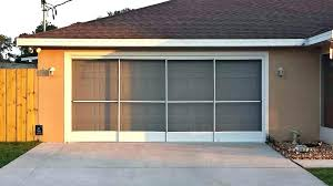 double garage door screen fiberglass