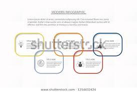 5 Element Chart Modern Infographics Five Step Element Chart Stock Image