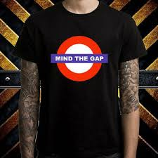 Gap Shirt Size Chart Details About Mind The Gap London Subway Caution Logo Mens Black T Shirt Size S To 3xl