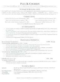 Sample Resume For Experienced Network Administrator