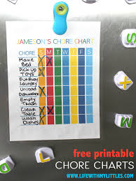 Free Printable School Charts Free Printable Chore Chart For Kids Life With My Littles