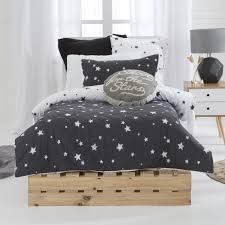 Boys' Quilt Cover Sets Online | Pillow Talk & Stargazer Charcoal Quilted Quilt Cover Set Adamdwight.com