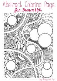 Small Picture Free Abstract Coloring Page for Adults Easy Peasy and Fun