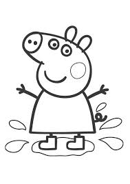 Small Picture Peppa pig coloring pages playing water ColoringStar