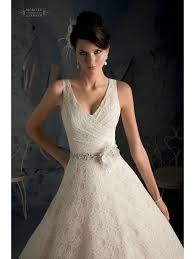 mori lee 5170 on the shoulder ivory lace wedding gown with belt