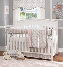 bella pink 4 piece crib bedding set