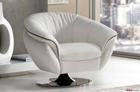 White Leather Chairs For Living Room White Leather Armchair