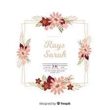 Uploaded by admin under modele 215 views . Beau Design Plat D Invitation De Mariage Cadre Floral Vecteur Gratuite
