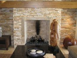 chic isokern fireplaces with stone veneer mantel kit matched with cream tile floor plus black table chic family room decorating