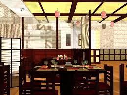 Japanese Restaurant Interior 3D model