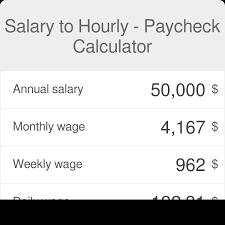 Monthly Paycheck Calculator Salary To Hourly Calculator Omni