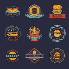 fast food restaurant logos crown.  Crown Vector  Vintage Fast Food Logo Set Retro Eating Signs Collection  Bistro Snack Bar Restaurant American Diner Icons On Fast Food Restaurant Logos Crown W