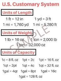 Capacity Conversion Anchor Charts Worksheets Teaching