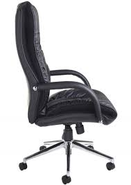 B DER300T1BLK Derby Leather Faced High Back Executive Chair  Enlarged View