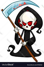 grim reaper cartoon character with