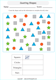 Online Tally Chart Counter Counting Shapes Tally Chart Printable Grade 2 Math Worksheet