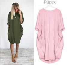 Large Size Maternity Dress New <b>Autumn Winter Round Neck</b> ...