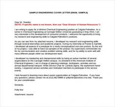 Email Cover Letter Sample For Engineering Job Application Inside