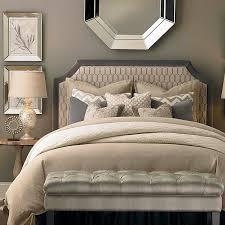 HGTV HOME Custom Uph Beds Florence Clipped Corner Headboard