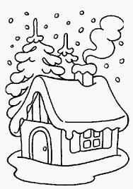 Kleurplaat Voor Papa Foto Christmas Winter House Kleurplaatunicornorg